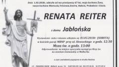Zmarła Renata Reiter. Żyła 67 lat