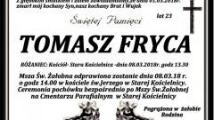 Zmarł Tomasz Fryca. Żył 23 lata.