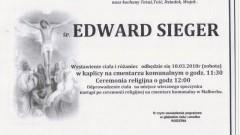 Zmarł Edward Sieger. Żył 82 lata.