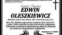 Zmarł Edwin Oleszkiewicz. Żył 69 lat.