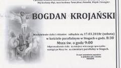 Bogdan Krojański. Żył 61 lat