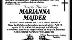 Zmarła Marianna Majder. Żyła 89 lat