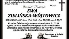 Zmarła Ewa Zielińska- Wójtowicz. Żyła 43 lata.