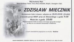 Zmarł Zdzisław Miecznik. Żył 54 lata