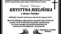 Zmarła Krystyna Bielińska.