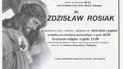 Zmarł Zdzisław Rosiak. Żył 66 lat