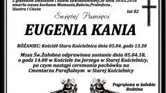 Zmarła Eugenia Kania. Żyła 82 lata.