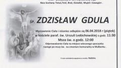Zmarł Zdzisław Gdula. Żył 67 lat.