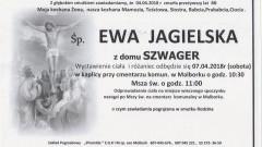 Zmarła Ewa Jagielska. Żyła 66 lat