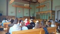 Malborscy gimnazjaliści z wizytą w sądzie