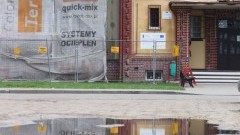 Remont ulic przed magistratem w Nowym Stawie