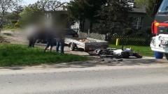 Gmina Nowy Dwór Gd.: Zderzenie motoru i samochodu volvo. Dwie osoby w szpitalu. Kierowca samochodu stracił prawo jazdy...