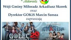 Gmina Miłoradz : Informacja o godzinach odjazdu autokaru z poszczególnych sołectw do sopockiej Ergo Areny.