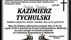 Zmarł Kazimierz Tychulski. Żył 86 lat.