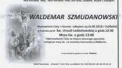 Zmarł Waldemar Szmudanowski. Żył 64 lata.