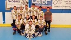 Bombers z Malborka kolejny raz wywalczyli mistrzostwo Polski młodzików w hokeju na rolkach.