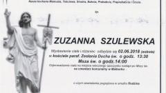 Zmarła Zuzanna Szulewska. Żyła 95 lat.