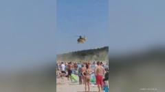 Trzy utonięcia jednego dnia. Na plaży w Jantarze lądowało LPR. Z wody wyciągnięto również 12- letniego chłopca.