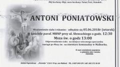 Zmarł Antoni Poniatowski. Żył 69 lat.