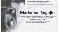 Zmarła Marianna Bogojło. Żyła 88 lat.