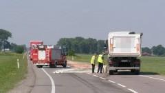 Wypadek ciężarówki i osobówki na DK22 w Gnojewie. Jedna osoba ranna. Weekendowy raport malborskich służb mundurowych