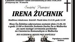 Zmarła Irena Żuchnik. Żyła 78 lat