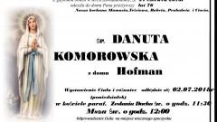 Zmarła Danuta Komorowska. Żyła 76 lat.