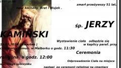 Zmarł Jerzy Kamiński. Żył 51 lat.