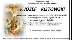 Zmarł Józef Kistowski. Żył 69 lat.