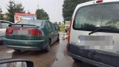 Kolizja dwóch samochodów osobowych w Rybinie.