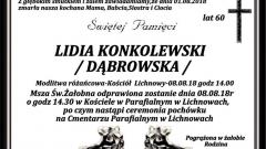Zmarła Lidia Konkolewski. Żyła 60 lat.