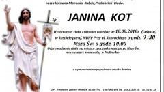 Zmarła Janina Kot. Żyła 89 lat.