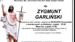 Zmarł Zygmunt Garliński. Żył 64 lata.