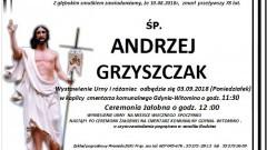 Zmarł Andrzej Grzyszczak. Żył 78 lat.