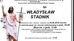 Zmarł Władysław Stadnik. Żył 88 lat.