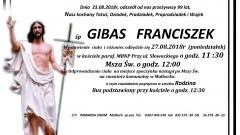 Zmarł Franciszek Gibas. Żył 99 lat.