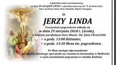 Zmarł Jerzy Linda. Żył 79 lat.