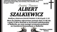 Zmarł Albert Szalkiewicz. Żył 83 lata.