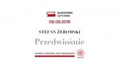 """Narodowe Czytanie """"Przedwiośnia"""" Stefana Żeromskiego w Malborku."""