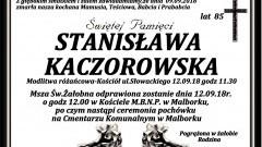 Zmarła Stanisława Kaczorowska. Żyła 85 lat