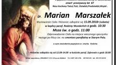 Zmarł Marian Marszałek. Żył 87 lat