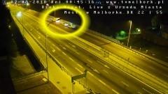 Chciał skoczyć z mostu w Malborku. Kierowca ratuje mężczyznę