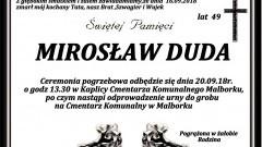 Zmarł Mirosław Duda. Żył 49 lat