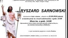 Zmarł Ryszard Sarnowski. Żył 64 lata.