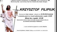 Zmarł Krzysztof Filipiuk. Żył 65 lat.