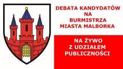 Debata kandydatów na Burmistrza Miasta Malborka na żywo z udziałem publiczności.