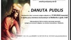 Zmarła Danuta Pudlis. Żyła 62 lata.