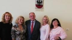 Przedstawicielki szkoły z Kozłowej Rudy z wizytą w Malborku
