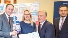 """Wyróżnienie """"Samorządowiec Pomorza"""" dla Przewodniczącej Rady gminy Miłoradz"""