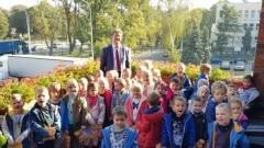 Koniczynki i Stokrotki z wizytą u Burmistrza Malborka.